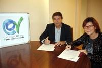 Josep Maria Bosch (IRBLleida) i Carmen López van signar l'acord