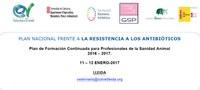 Doble jornada sobre Antibiòtics a Lleida  - 11 i 12 de gener de 2017 a ETSEA Lleida
