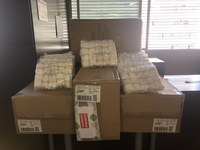 El Col·legi de Veterinaris de Lleida entrega 4.000 peücs d'un sol ús als professionals de l'Atenció Primària de Lleida