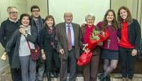 Mateu Torrent i la seva esposa, amb la junta del COVLL