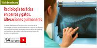 """WebSeminar """"Radiología torácica en perros y gatos. Alteraciones pulmonares"""", el 14 de novembre amb places gratuïtes per a col·legiats"""