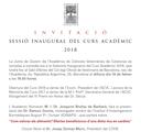 Invitació-Inauguració del Curs Acadèmic  l'Acadèmia de Cièncias Veterinàries de Catalunya