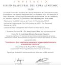 Invitació-Sessió inaugural del Curs Acadèmic 2020 de l'Acadèmia de Ciències Veterinàries de Catalunya