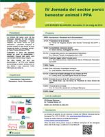 IV Jornada del sector porcí: benestar animal i PPA, el divendres 31 de maig a Les Borges