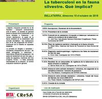 """Jornada """"La tuberculosi en la fauna silvestre. Què implica"""", el 10 d'octubre a la Facultat de Veterinària Bellaterra"""