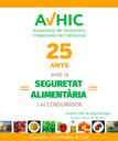 """Jornada d'AVICH, """"25 anys amb la seguretat alimentària i el consumidor"""", 26 d'octubre a Barcelona"""