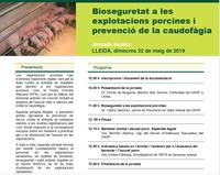 """Jornada tècnica """"Bioseguretat a les explotacions porcines i prevenció de la caudofàgia"""" del 22 de maig a Lleida"""