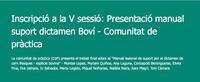 Presentació Manual Suport Dictamen Boví - Comunitat de pràctica