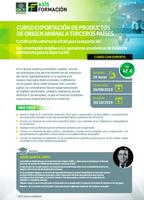 """Segunda edición del curso online: """"Exportación de productos de origen animal a terceros países"""""""