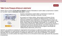 """Taller-Curs """"Assajos clínics en Veterinària"""", el 27 d'abril a Madrid"""
