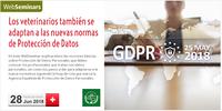 """Webseminar – Consejo – """"Els veterinaris també s'adapten a les noves normes de protecció de dades personals"""", el 28 de juny"""