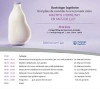"""""""La mastitis i fertilitat en vacú de llet"""", protagonista d'una jornada el dimarts 20 al Col·legi amb la col·laboració de Boehringer Ingelheim"""