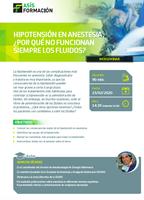 """Webseminar gratis pels col·legiats sobre """"Hipotensión en anestesia, ¿por qué no funcionan siempre los fluidos?, el 25 de febrer"""